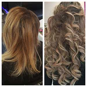 Extensions cheveux bouclés blonds
