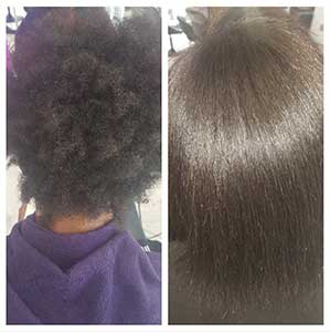 Lissage naturel cheveux afro