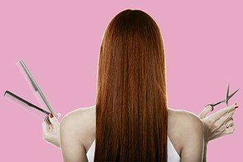 Femme de dos extensions de cheveux